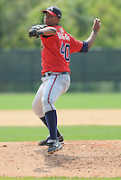 13 March 2009: RHP Randall Delgado of the Atlanta Braves throws during an intra-squad game at Spring Training camp at Disney's Wide World of Sports in Lake Buena Vista, Fla. Photo by:  Tom Priddy/Four Seam Images