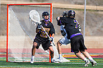 San Diego, CA 05/25/13 - Addison Sherwood (Carlsbad #21), Henry Gardener (Carlsbad #7) and Chris Summers (Westview #33) in action during the 2013 Boys Lacrosse San Diego CIF DIvision 1 Championship game.  Westview defeated Carlsbad 8-3.