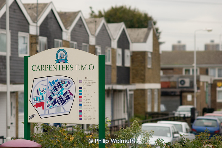 Social housing in Stratford, east London, under the control of Carpenters Tenant Management Organisation.
