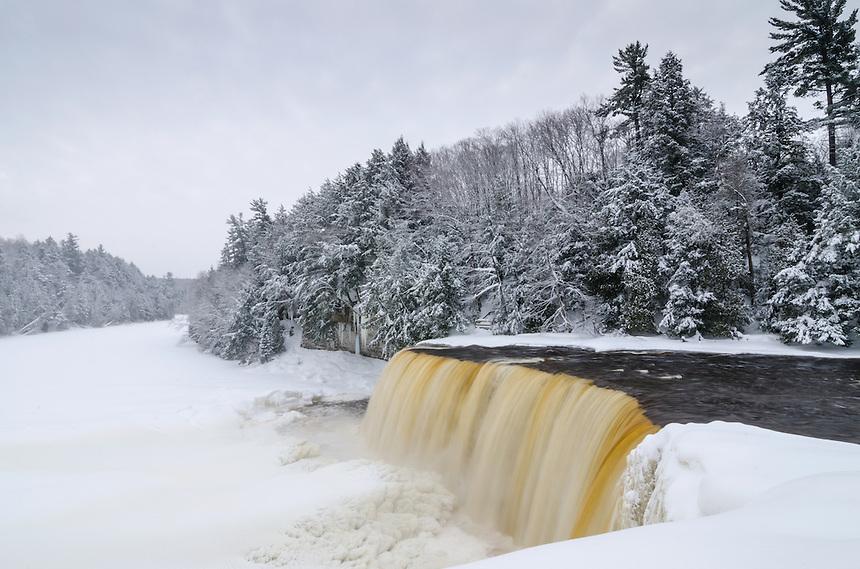 Looking downriver of Tahquamenon Falls. Michigan's Upper Peninsula