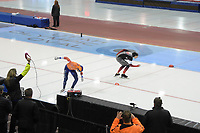 SPEEDSKATING: 14-02-2020, Utah Olympic Oval, ISU World Single Distances Speed Skating Championship, 10.000m Men, Ted-Jan Bloemen (CAN), Patrick Roest (NED), ©Martin de Jong