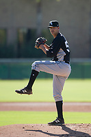 Chicago White Sox pitcher Blake Battenfield (50) delivers a pitch to the plate during an Instructional League game against the Los Angeles Dodgers on September 30, 2017 at Camelback Ranch in Glendale, Arizona. (Zachary Lucy/Four Seam Images)