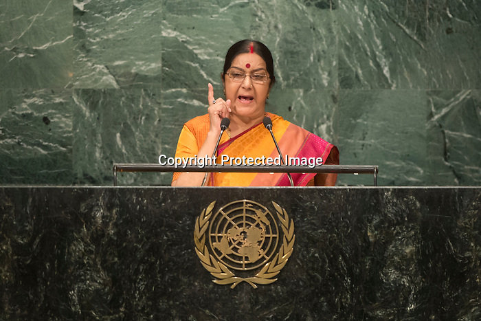 India<br /> H.E. Ms. Sushma Swaraj<br /> Minister of External Affairs<br /> <br /> <br /> <br /> General Assembly Seventy First Session: 23rd plenary meeting