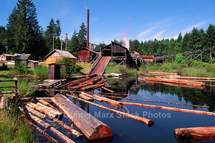 Port Alberni, BC, Vancouver Island, British Columbia, Canada - McLean Mill National Historic Site, Heritage Steam Sawmill