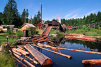 Port Alberni, BC, Vancouver Island, British Columbia, Canada - McLean Mill National Historic Site, Heritage Steam Sawmill
