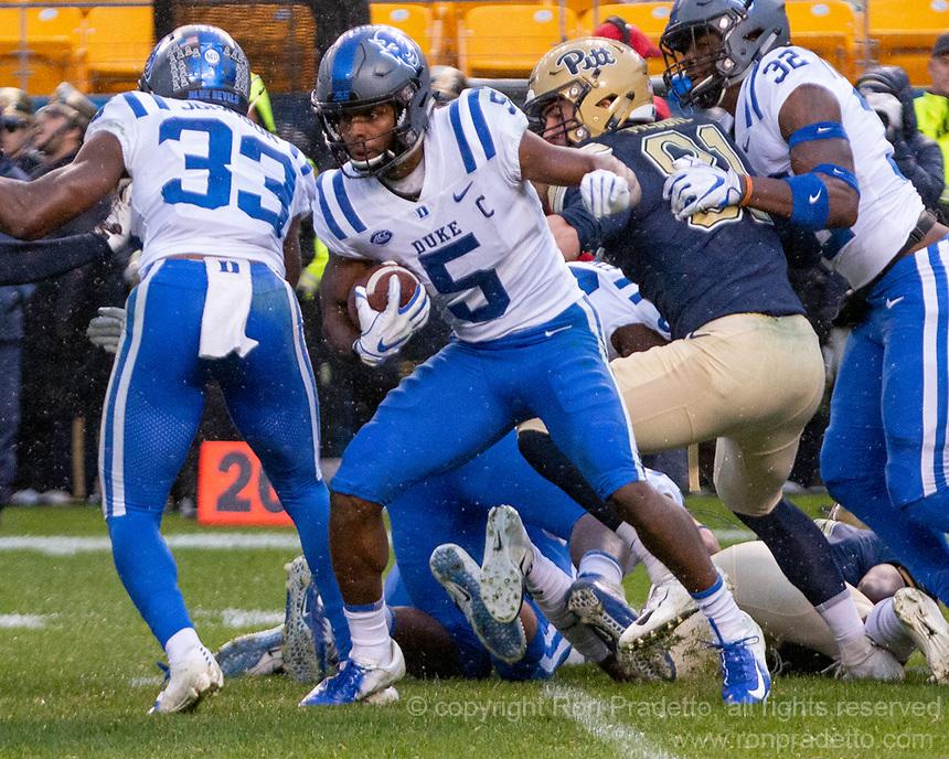Duke wide receiver Jonathan Lloyd.The Pitt Panthers football team defeated the Duke Blue Devils 54-45 on November 10, 2018 at Heinz Field, Pittsburgh, Pennsylvania.