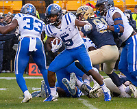 Duke wide receiver Jonathan Lloyd.The Pitt Panthers football team defeated the Duke Blue Devils 54-45 on November 10, 2018 at Heinz Field, Pittsburgh, Pennsylvania.