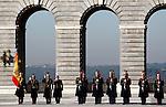 Madrid, (24/10/10).- Guardia Real desfilando en el patio de El Palacio Real......King Juan Carlos I of Spain presided the Credential Cards giving to diplomatics in Spain...Photo: Alex Cid-Fuentes / ALFAQUI
