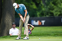 4th July 2021, Detroit, MI, USA;  Richy Werenski (USA) watches his birdie attempt on 1 during the Rocket Mortgage Classic Rd4 at Detroit Golf Club on July 4,