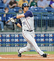 11 April 2008: Yunesky Sanchez of the Mobile BayBears, Class AA affiliate of the Arizona Diamondbacks, in a game against the Mississippi Braves at Trustmark Park in Pearl, Miss. Photo by:  Tom Priddy/Four Seam Images