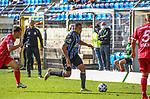 Waldhofs Anton-Leander Donkor (Nr.19) am Ball beim Spiel in der 3. Liga, SV Waldhof Mannheim - Türgücü München.<br /> <br /> Foto © PIX-Sportfotos *** Foto ist honorarpflichtig! *** Auf Anfrage in hoeherer Qualitaet/Aufloesung. Belegexemplar erbeten. Veroeffentlichung ausschliesslich fuer journalistisch-publizistische Zwecke. For editorial use only. DFL regulations prohibit any use of photographs as image sequences and/or quasi-video.
