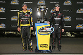 NASCAR Camping World Truck Series<br /> TheHouse.com 225<br /> Chicagoland Speedway, Joliet, IL USA<br /> Friday 15 September 2017<br /> Matt Crafton, Black Label Bacon/Menards Toyota Tundra and Ben Rhodes, Safelite Auto Glass Toyota Tundra<br /> World Copyright: Barry Cantrell<br /> LAT Images