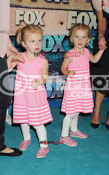 WEST HOLLYWOOD, CA - JULY 23: Riley Cregut and Bailey Cregut arrive at the FOX All-Star Party on July 23, 2012 in West Hollywood, California. / NortePhoto.com<br /> <br /> **CREDITO*OBLIGATORIO** *No*Venta*A*Terceros*<br /> *No*Sale*So*third* ***No*Se*Permite*Hacer Archivo***No*Sale*So*third*©Imagenes*con derechos*de*autor©todos*reservados*. /eyeprime