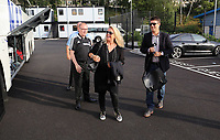 Wednesday 07 August 2013<br /> Pictured:  Manager Michael Laudrup (R) with his wife departing from the Swansea Training ground.  <br /> Re: Swansea City FC travelling to Sweden for their Europa League 3rd Qualifying Round, Second Leg game against Malmo.