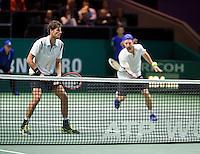 Februari 14, 2015, Netherlands, Rotterdam, Ahoy, ABN AMRO World Tennis Tournament, Robin Haase (NED) / Andre Begemann (GER)<br /> Photo: Tennisimages/Henk Koster