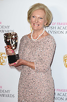 Mary Berry<br /> in the winners room at the 2016 BAFTA TV Awards, Royal Festival Hall, London<br /> <br /> <br /> ©Ash Knotek  D3115 8/05/2016