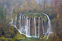 Veliki Prstavci waterfalls, Upper Lakes, Plitvice Lakes National Park, Croatia. November.