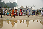Heavy rainfall caused massive flooding in Allahabad for Kumbh Mela Festival.