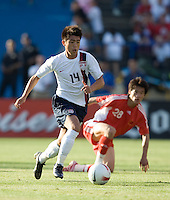 Lee Nguyen runs for the ball. The USA defeated China, 4-1, in an international friendly at Spartan Stadium, San Jose, CA on June 2, 2007.