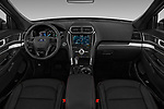Stock photo of straight dashboard view of a 2018 Ford Explorer Sport 5 Door SUV