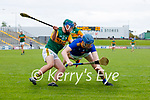 Nathan Guerin, Kerry in action against Martin O'Brien, Wicklow in the Allianz National Hurling League Division 2A Round 4 at Austin Stack Park, Tralee on Saturday.