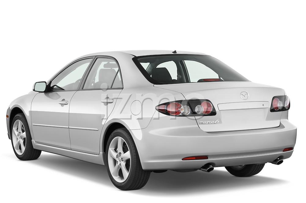 Rear three quarter view of a 2008 Mazda 6 Sport Sedan