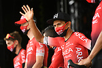 Nairo Quintana (COL) and Team Arkea-Samsic at sign on before the start of Stage 9 of Tour de France 2020, running 153km from Pau to Laruns, France. 6th September 2020. <br /> Picture: ASO/Alex Broadway   Cyclefile<br /> All photos usage must carry mandatory copyright credit (© Cyclefile   ASO/Alex Broadway)