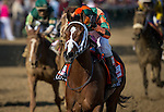 """May 01, 2015: Lovely Maria with Kerwin """"Boo Boo"""" Clark up wins the Kentucky Oaks Stakes at Churchill Downs Louisville Ky. Alex Evers/ESW/CSM"""