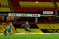 26th December 2020; Vicarage Road, Watford, Hertfordshire, England; English Football League Championship Football, Watford versus Norwich City; Todd Cantwell of Norwich City clears the ball
