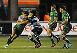 Connacht's Mils Muliaina is tackled by Cardiff Blues' Josh Navidi<br /> Guiness Pro12<br /> Cardiff Blue v Connacht<br /> BT Sport Cardiff Arms Park<br /> 06.03.15<br /> ©Ian Cook -SPORTINGWALES