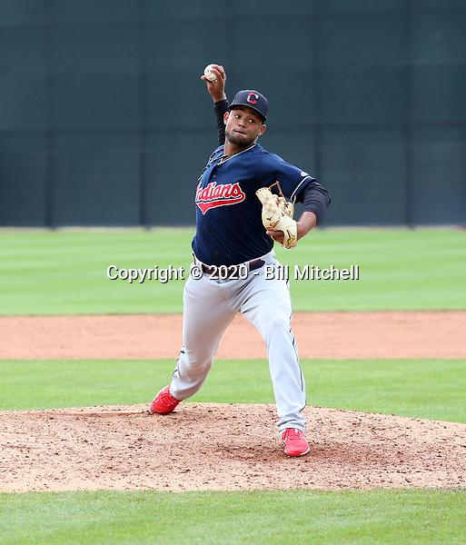 Manuel Alvarez - Cleveland Indians 2020 spring training (Bill Mitchell)
