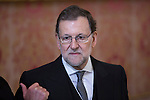 Spain's acting Prime Minister Mariano Rajoy attends the Military Eastern (Pascua Militar) at the Royal Palace in Madrid, Spain. January 06, 2015. (ALTERPHOTOS/Pool)