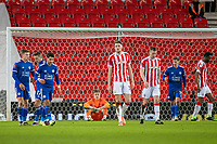 9th January 2021; Bet365 Stadium, Stoke, Staffordshire, England; English FA Cup Football, Carabao Cup, Stoke City versus Leicester City; A dejecrted Goalkeeper Josef Bursik of Stoke City as Harvey Barnes of Leicester City scores another goal