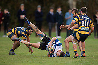 Action from the Ellesmere premier club rugby union match between Southbridge and West Melton at Southbridge RFC in Southbridge, New Zealand on Saturday, 4 July 2020. Photo: Joe Johnson / lintottphoto.co.nz
