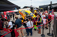Aug 31, 2019; Clermont, IN, USA; NHRA fans at the Toyota Racing Experience in the pits during qualifying for the US Nationals at Lucas Oil Raceway. Mandatory Credit: Mark J. Rebilas-USA TODAY Sports