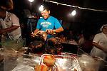 Street scenes.Salento, ColombiaBarbecue stalls in the main square.Salento, Colombia..