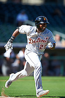 Salt River Rafters Christin Stewart (20), of the Detroit Tigers organization, during a game against the Surprise Saguaros on October 17, 2016 at Surprise Stadium in Surprise, Arizona.  Surprise defeated Salt River 3-1.  (Mike Janes/Four Seam Images)