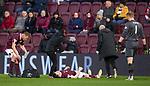 29.02.2020 Hearts v Rangers: John Souttar injured
