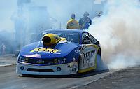 Sept. 23, 2012; Ennis, TX, USA: NHRA pro stock driver Rodger Brogdon during the Fall Nationals at the Texas Motorplex. Mandatory Credit: Mark J. Rebilas-US PRESSWIRE