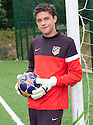 """Josuha Rae, who is 6' 1"""" despite only being  12 years old, and has been offered a deal with Atletico de Madrid after being invited for a trial after impressing one of their scouts while playing football on the beach on holiday in Benidorm."""