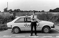Pix: Copyright Anglia Press Agency/Archived via SWpix.com. The Bamber Killings. August 1985. Murders of Neville and June Bamber, daughter Sheila Caffell and her twin boys. Jeremy Bamber convicted of killings serving life...copyright photograph>>Anglia Press Agency>>07811 267 706>>..Police block the road leading to White House Farm. no date..ref 0008 neg 27.