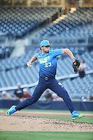 Alex Scherff (23) of the West Team pitches against the East Team during the Perfect Game All American Classic at Petco Park on August 14, 2016 in San Diego, California. West Team defeated the East Team, 13-0. (Larry Goren/Four Seam Images)