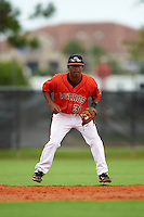 GCL Astros shortstop Rodrigo Ayarza (37) during a game against the GCL Braves on July 23, 2015 at the Osceola County Stadium Complex in Kissimmee, Florida.  GCL Braves defeated GCL Astros 4-2.  (Mike Janes/Four Seam Images)