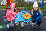 Enjoying the playground in the Listowel town park on Friday, l to r: Aoife Hickey and Amy O'Connell.
