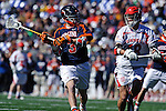 Face-Off Classic:  Midfielder Roy Lang #48 of the Cornell Bears defends Midfielder Ryan Tucker #3 of the Virginia Cavaliers during the Virginia v Cornell mens lacrosse game at M&T Bank Stadium on March 10, 2012 in Baltimore, Maryland. (Ryan Lasek/Eclipse Sportswire)