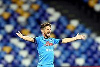 Dries Mertens of SSC Napoli celebrates after scoring the goal of 3-0 during the Serie A football match between SSC Napoli and Genoa CFC at San Paolo stadium in Napoli (Italy), September 27th, 2020. Photo Cesare Purini / Insidefoto
