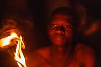 Africa,Togo,Sokodè, fire dance, woodoo ritual, of Them people - Danza del fuoco dell'etnia Them , rito voodoo