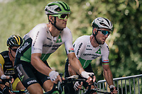 Mark Cavendish  (GBR/Dimension Data) up the last climb of the day in the very last grupetto<br /> <br /> Stage 5: Lorient > Quimper (203km)<br /> <br /> 105th Tour de France 2018<br /> ©kramon