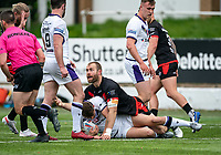 Rhys Curran of London Broncos during the Betfred Championship match between London Broncos and Newcastle Thunder at The Rock, Rosslyn Park, London, England on 9 May 2021. Photo by Liam McAvoy.