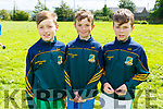 DJ Long, Jack Walsh and Conor Cahill at the family fun day in Knocknagoshel on Friday.